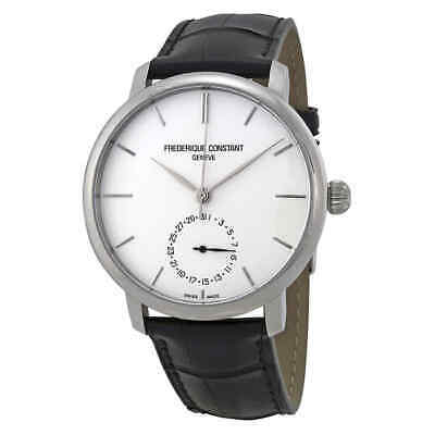 Frederique Constant Slimline Automatic Silver Dial Black Leather Men's Watch