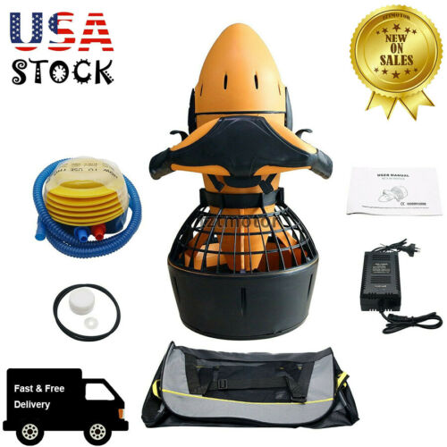 Diving Sea Scooter 300W Waterproof Pro Electric Dual Speed SafetyProp 6km/h USA