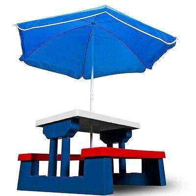Children Outdoor Toys Kids Garden Play Picnic Table Parasol Bench Seat Furniture