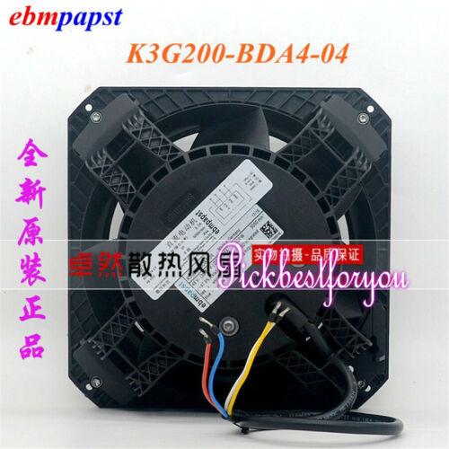 New Original ebmpapst K3G200-BDA4-04 48V DC fan by DHL or EMS 90warranty M6BE QL