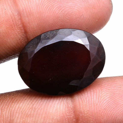 Hessonite Garnet Natural 38.00 Cts Oval Cut Untreated Top Quality Huge Gemstone