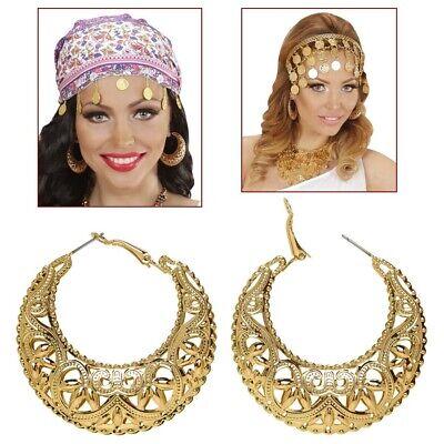 GOLDENE HALBMOND OHRRINGE # Zigeuner Gipsy Römer Cleopatra Kostüm Schmuck - Kostüm Schmuck Gold Ringe