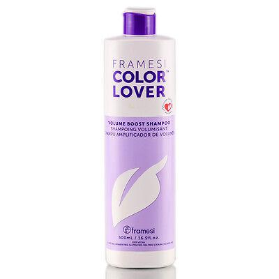 FRAMESI Color Lover Volume Boost Shampoo 16.9 fl oz, Sulfate Free, 100% Vegan