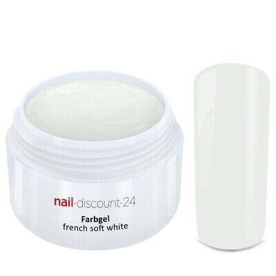 FRENCH Color UV Gel SOFT WHITE Frenchgel Farbgel Modellage Nail Art Nagel Weiß