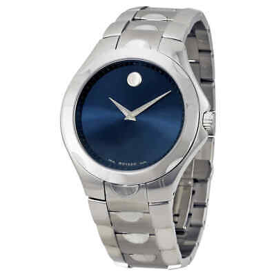 Movado Luno Stainless Steel Blue Dial Men's Watch 0606380