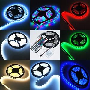 12V-5M-300-SMD-3528-5050-IP65-LED-Strip-Light-Flexible-White-RGB-String-Lamp