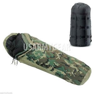 MSS-5-Pc-Goretex-Military-Woodland-Modular-Sleep-System-Bivy-Patrol-Sleeping-Bag