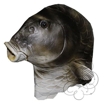 Latex Overhead Realistic Animal Aquatic Fish Fancy Props Carnival Party Mask](Realistic Animal Costumes)