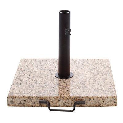 43-pound Square Beige Granite Umbrella Base (UV-protected)  - Granite Umbrella Base