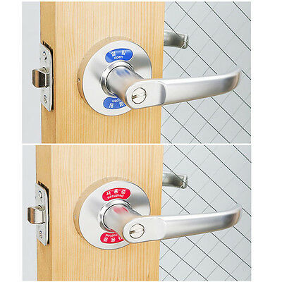 """Open"",""Occupied "" indication Wave Lever Handle Door Locks for Bathroom Toilet"