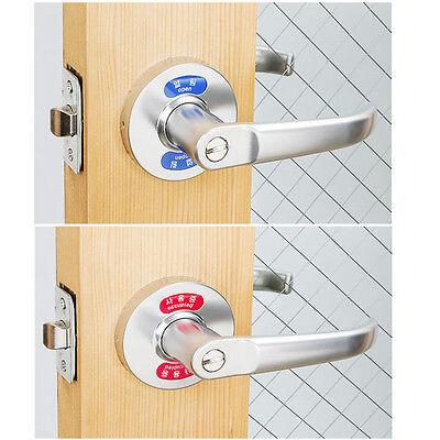 """""""Open"""",""""Occupied """" indication Wave Lever Handle Door Locks for Bathroom Toilet"""