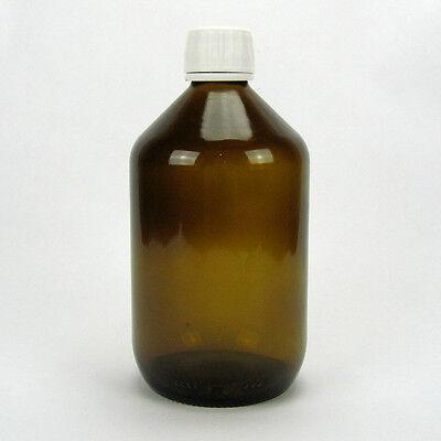 10x Braunglasflasche Apothekerflasche Alcoa Verschluss Originalitätsring 500 ml