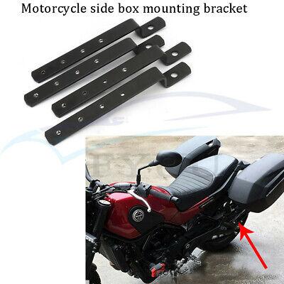 Universal Iron Heavy Duty Motorcycle Hard Saddle Bags Saddlebag Mounting Kit Black Iron Cross Saddlebags