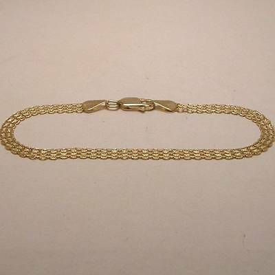 Link Bracelet in Solid 14K Yellow Gold with Lobster Clasp