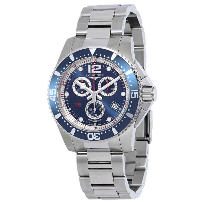Longines HydroConquest Chronograph Blue Dial Men Watch L38434966