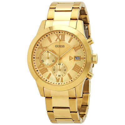 Guess Classic Chronograph Gold Dial Men's Watch W0668G4