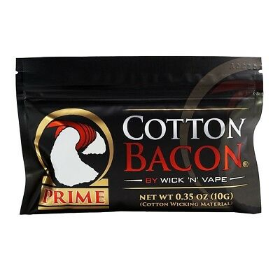 Cotton Bacon Prime 10g (79,00€/100g) Wick n Vape Organic Cotton Watte Baumwolle