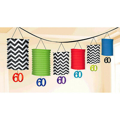 Celebrate 60th Birthday Lantern Garland Decorations ~ Adult Party Supplies Favor (Adult Birthday Party Supplies)