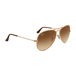 Authentic Ray-Ban Aviator Sunglasses Rb3025 001 51 58 Gold Brown Gradient  Lenses ae9e8a2a0a
