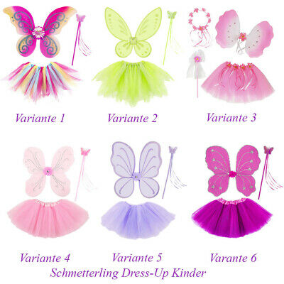 SCHMETTERLING FEE KOSTÜM KINDER Karneval Tütü Flügel Zauberstab - Schmetterling Flügel Kostüme Kinder