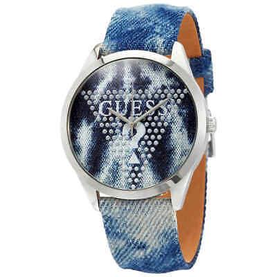 Guess Sliver Blaze Blue Dial Ladies Watch W1144L1