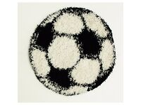 New 80cm x 80cm shaggy football rug