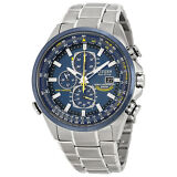 Citizen Eco Drive Blue Angels Chronograph Stainless Steel Mens Watch AT8020-54L