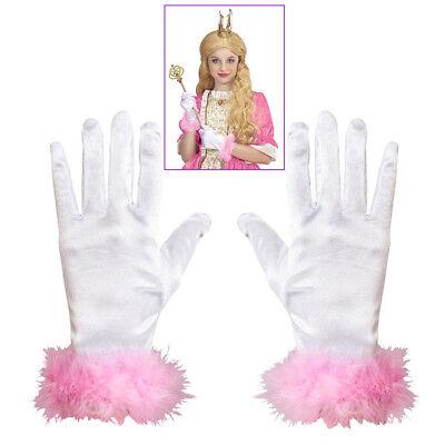 HANDSCHUHE WEIß KINDER Karneval Fasching Party Prinzessin Kostüm Zubehör   05384 ()