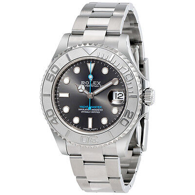 Rolex Yacht-Master Rhodium Dial Steel and Platinum Oyster Midsize Watch