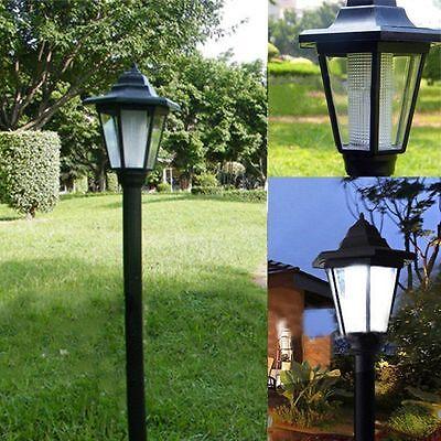 Auto Outdoor Garden LED Solar Power Path  Cited Light Landscape Lamp Post Lawn A