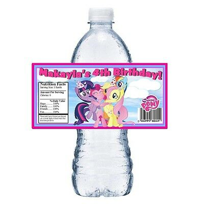 MY LITTLE PONY PERSONALIZED BIRTHDAY PARTY FAVORS ~ WATER BOTTLE LABELS - My Little Pony Birthday Favors