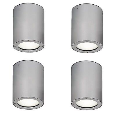 4 Pack of Aurora LED / CFL Outdoor 240v IP54 Silver Canopy/ Ceiling/ Porch Light