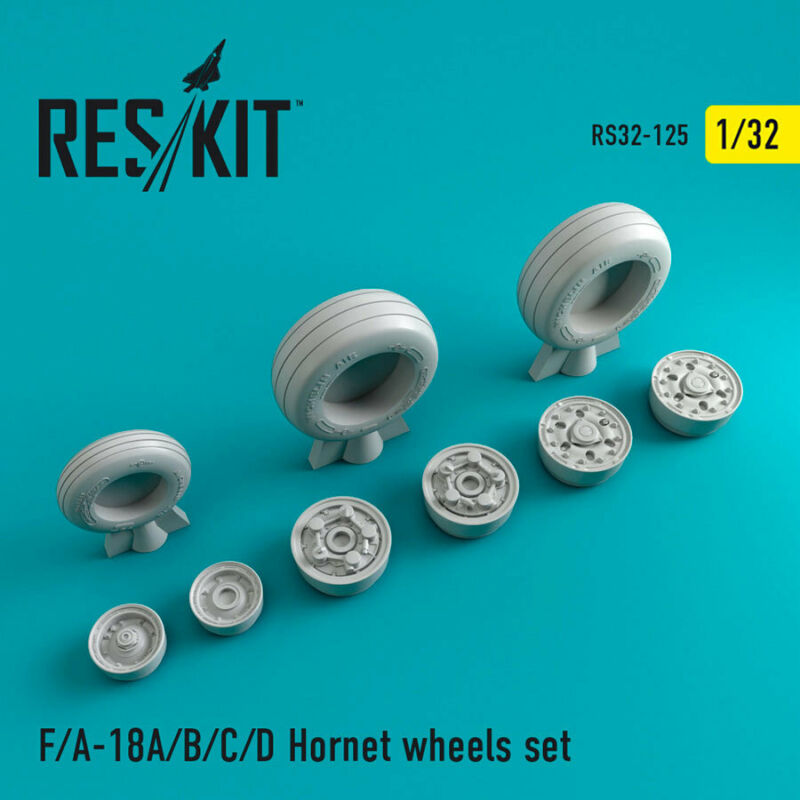 1/32 McDonnell Douglas F/A-18 Hornet Wheels set for Trumpeter/Kinetic/Academy