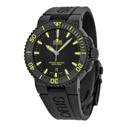 Oris Aquis Date Automatic Black Dial Black Rubber Mens Watch 733-7653-4722RS - watch picture 1