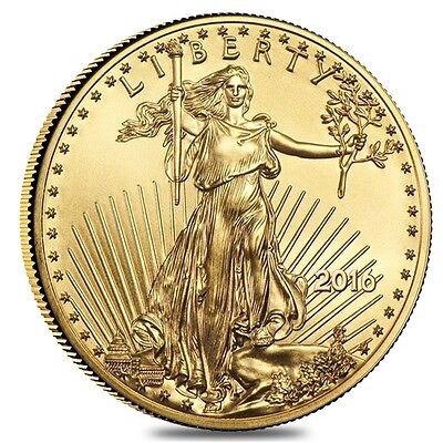2016 1/4 oz Gold American Eagle $10 Coin BU