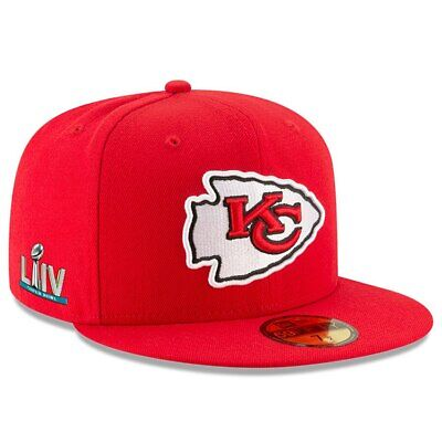 Red NFL Kansas City Chiefs New Era Super Bowl LIV 54 Sideline Patch Fitted