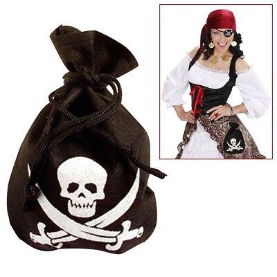 PIRATEN GOLDBEUTEL Totenkopf Gold Beutel Geldbeutel Pirat Kostüm - Totenkopf Piraten Kostüme