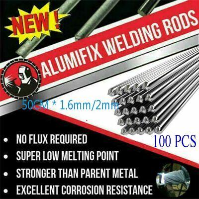 100pcs Aluminum Solution Welding Flux-cored Rods Wire Brazing Rod 2mm1.6mm50cm