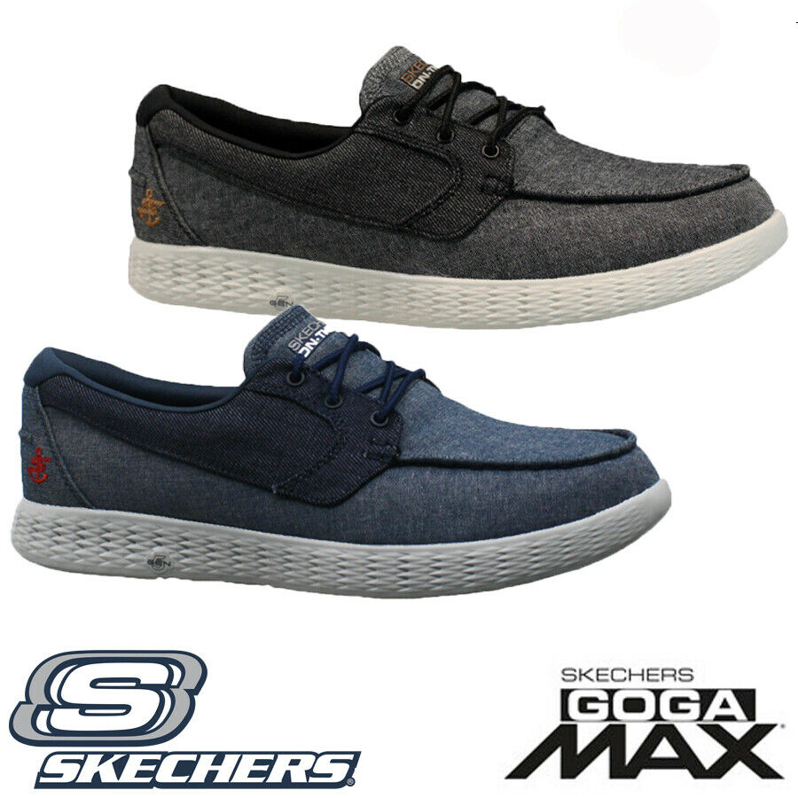37d0922abcd56 Details about MENS SKECHERS GO GOGA MAX 5 GEN LIGHTWEIGHT FITNESS WALKING  BOAT SHOES TRAINERS