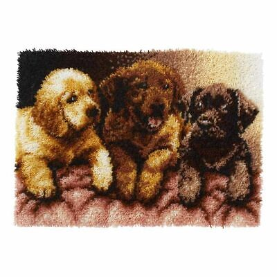 Labrador Puppies Latch Hook Kit Caron 24x34
