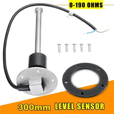 300mm Universal Boat Fuel Sending Unit Truck Water Level Gauge Sensor 0-190ohms