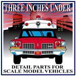 3 inches under