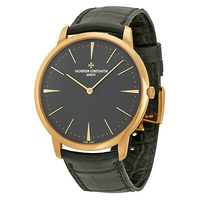 Vacheron Constantin Patrimony Grey Dial 18k Pink Gold Manual Mens Watch