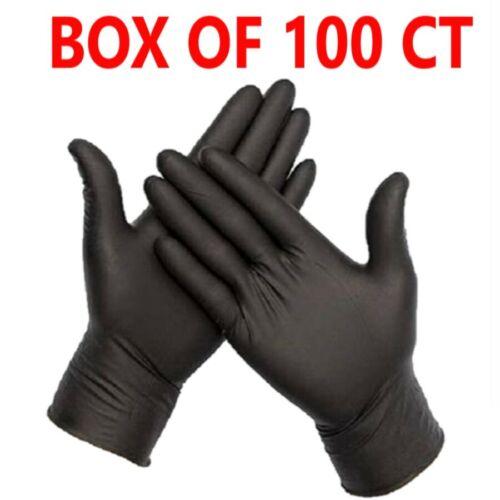 100 /200/ 600/1000 Black Vinyl Gloves Powder Free, Latex & Nitrile Free- S M L