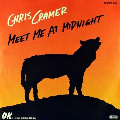 "7"" CHRIS CRAMER ex HALLUCINATION COMPANY Meet Me At Midnight OK Austropop 1987"