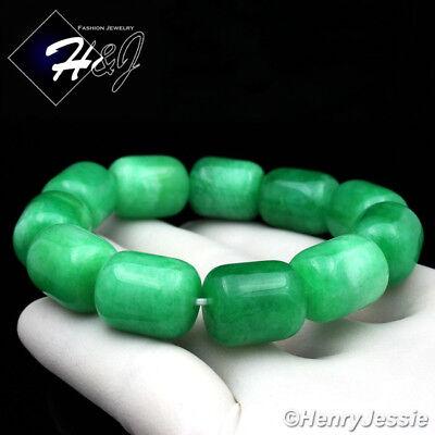 Natural Jadeite Green HEAVY BIG 14mm Beads Stretch JADE Bracelet*GB4/Free Box Beads Stretch Bracelet Box