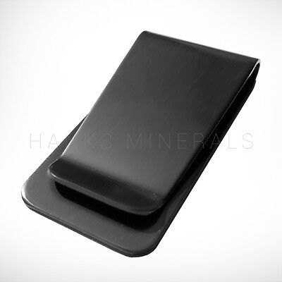 Black Money Clip - Black Stainless Steel Money Clip Metal Pocket Holder Wallet Credit Card USA