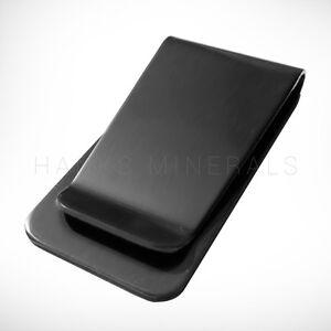 Black Stainless Steel Money Clip Metal Pocket Holder Wallet Credit Card USA