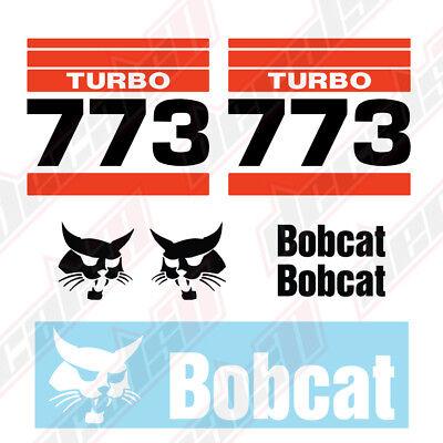 Bobcat 773 Turbo Skid Steer Set Vinyl Decal Sticker - Aftermarket