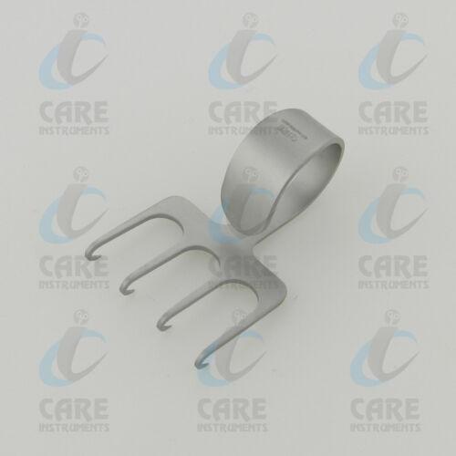 Freeman Hook Rake Retractor 6 cm, 4 Sharp Prongs 3.8 cm Wide with thumb ring
